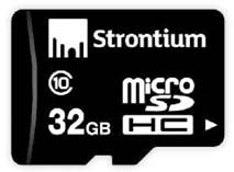 Best price on Strontium 32 GB MicroSDHC Class 10 (10MB/s) Memory Card in India