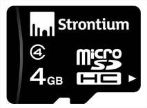 Best price on Strontium 4GB MicroSD Class 4 Memory Card in India