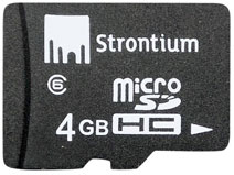 Best price on Strontium 4GB MicroSDHC Class 6 (24MB/s) Memory Card in India