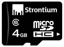 Best price on Strontium 4GB MicroSDHC Class 6 (4MB/s) Memory Card in India