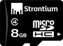 Best price on Strontium 8GB MicroSDHC Class 4 (4MB/s) Memory Card in India