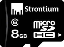 Best price on Strontium 8GB MicroSDHC Class 6 (24MB/s) Memory Card in India