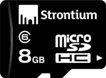 Strontium 8GB MicroSDHC Class 6 (24MB/s) Memory Card