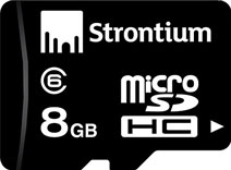 Best price on Strontium 8GB MicroSDHC Class 6 (6MB/s) Memory Card in India