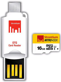 Strontium Nitro 433x 16GB MicroSDHC UHS-1 (65MB/s) Memory Card (With OTG Adapter)