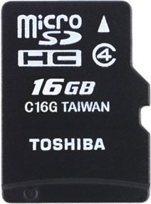 Best price on Toshiba 16GB MicroSDHC Class 4 (15MB/s) Memory Card in India