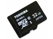 Best price on Toshiba 32GB MicroSDHC Class 10 (30MB/s) Memory Card in India