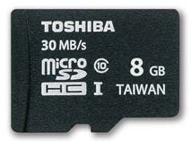 Best price on Toshiba 8GB MicroSDHC Class10 (30MB/s) Memory Card in India
