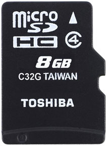 Best price on Toshiba 8GB MicroSDHC Class 4 Memory Card (With Adapter) in India