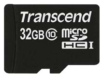 Best price on Transcend 32GB MicroSDHC Class 10 (30MB/s) Memory Card in India
