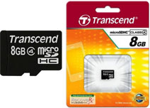Best price on Transcend 8GB MicroSDHC Class 4 (6MB/s) Memory Card in India