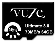 Best price on Vuze 64GB MicroSDHC Class 10 (70MB/s) Memory Card in India