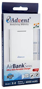 Best price on Advent X-8 AirBank 4000mAh Power Bank - Front in India