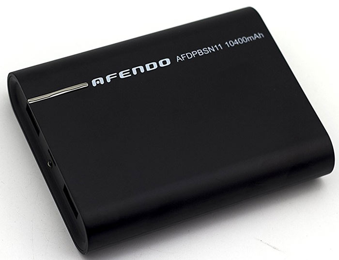 Best price on Afendo 10400mAh Dual USB Power Bank in India