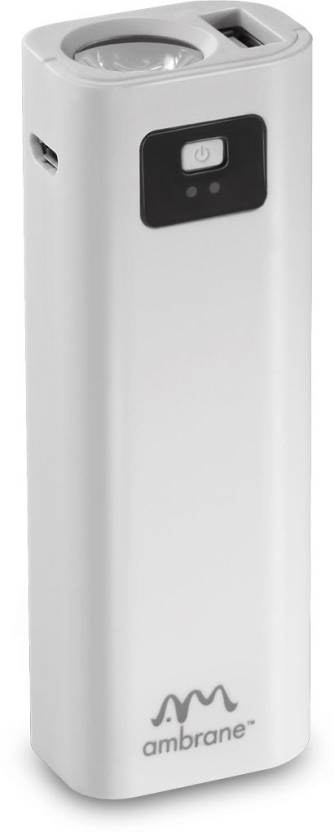 Best price on Ambrane P-202 2200mAh Power Bank in India