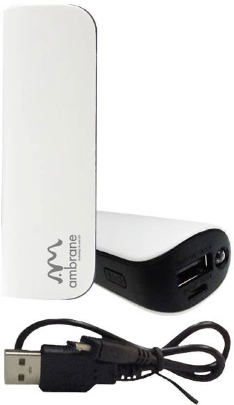 Best price on Ambrane P-26 2600mAh Power Bank in India
