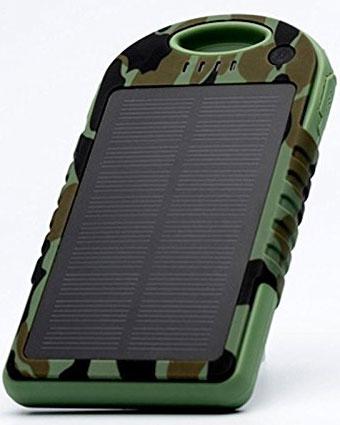 Best price on Big Digital 10000mAh Solar Panel Dual Port Power Bank in India