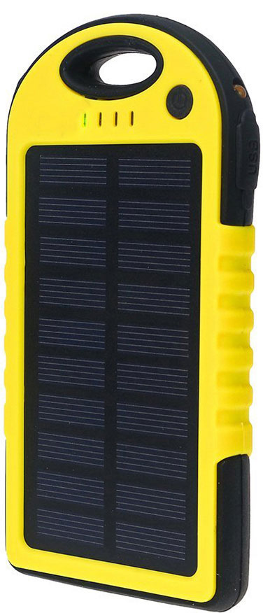 Best price on Big Digital Solar Panel 5000mAh Water Resistant & Shockproof Power Bank in India
