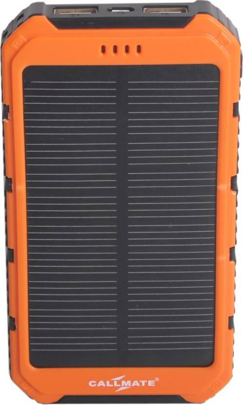 Best price on Callmate Solar 12000mAh Power Bank in India