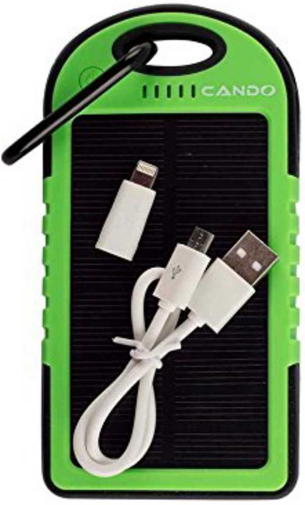 Best price on Cando 5000mAh Solar Power Bank in India