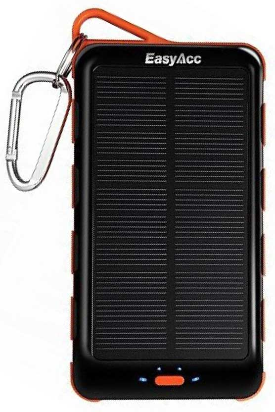 Best price on EasyAcc 15000mAh Solar Power Bank in India