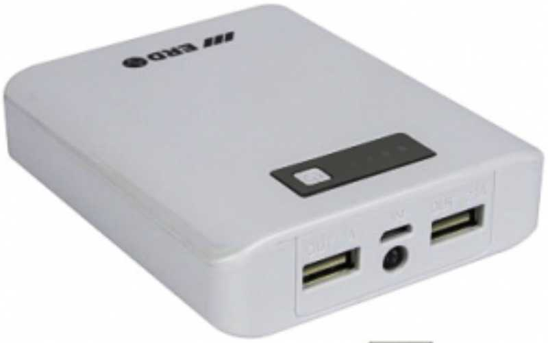 Best price on ERD 10400mAh Dual USB Port Power Bank in India