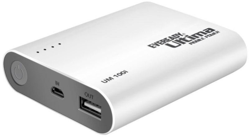 Best price on Eveready UM100I 10400 mAh Li-Ion Power Bank in India