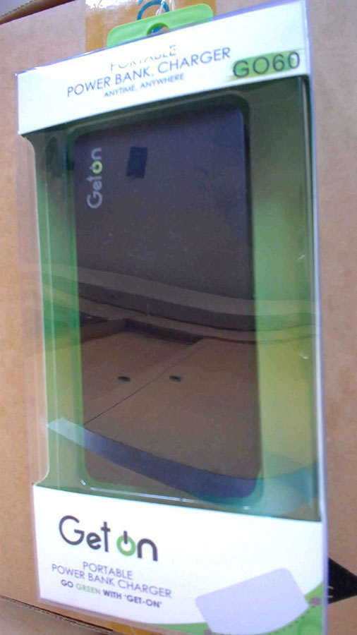 Best price on GetOn GO60 6000mAh Power Bank in India
