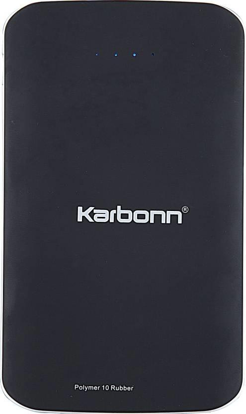 Best price on Karbonn Polymer 10 Rubber 10000mAh Power Bank in India