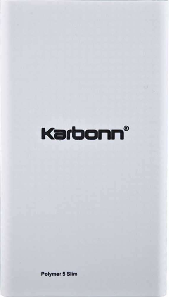 Best price on Karbonn Polymer 5 Slim 5000mAh Power Bank in India
