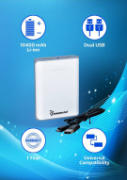 Best price on Lappymaster PB-018 10400mAh Power Bank - Side in India