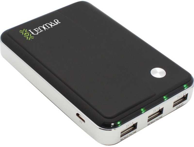 Best price on Lenmar Helix 11000mAh 3-USB Port Power Bank in India
