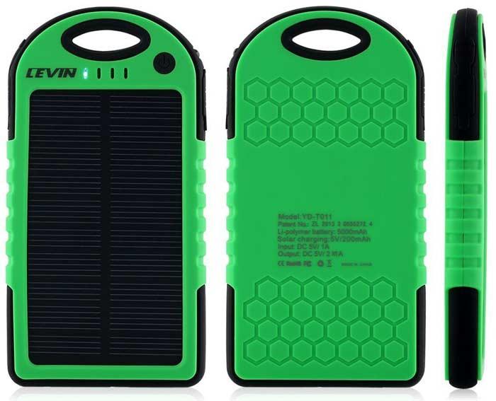 Best price on Levin Solstar 6000mAh Solar Power Bank in India
