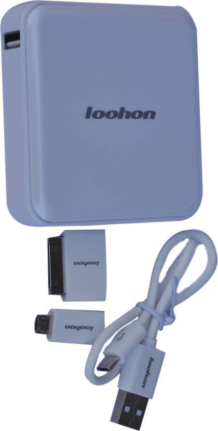 Best price on Loohon L-308 USB Portable 8400mAh Power Bank in India