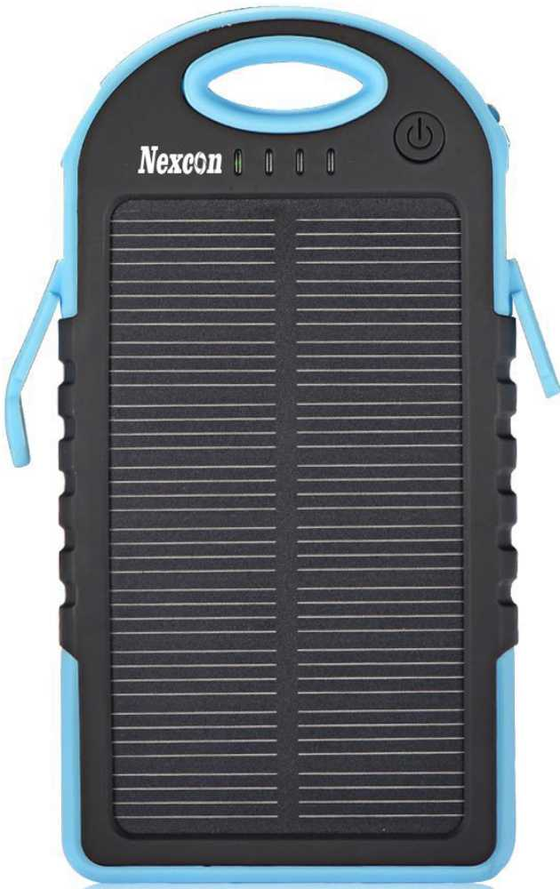 Best price on Nexcon Solar Panel 5000mAh Power Bank in India