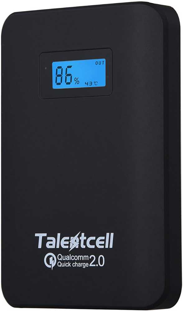 Best price on TalentCell 10400mAh Power Bank in India