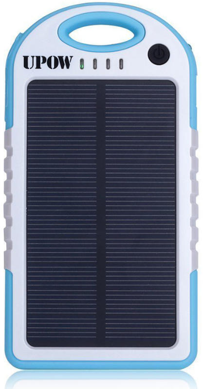 Best price on Upow 5000mAh Solar Panel Charger with Bluetooth Power Bank in India