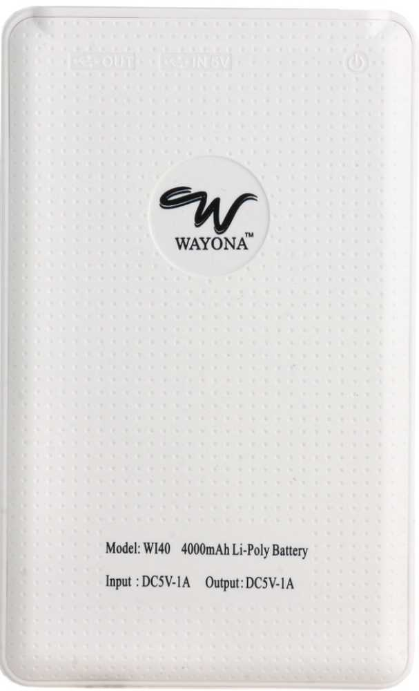Best price on Wayona WI40 4000mAh Power Bank in India
