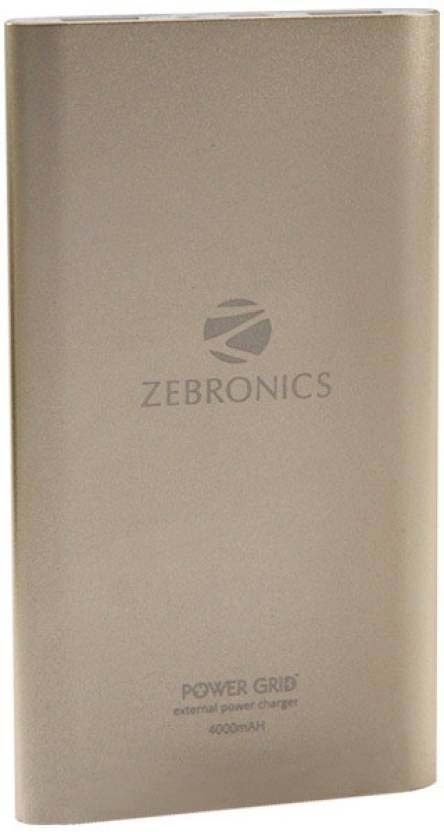 Best price on Zebronics PG-4000 4000mAh Power Bank in India