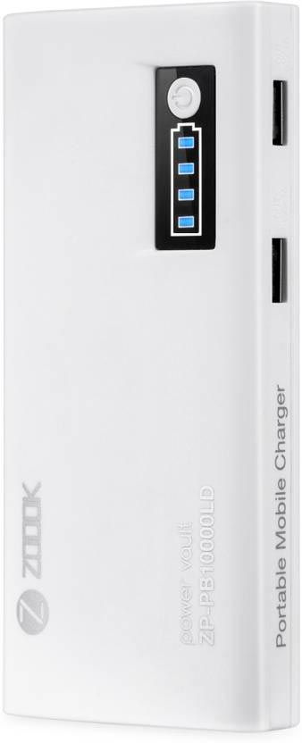 Best price on Zoook ZP-PB10LD 10000mAh Power Bank in India