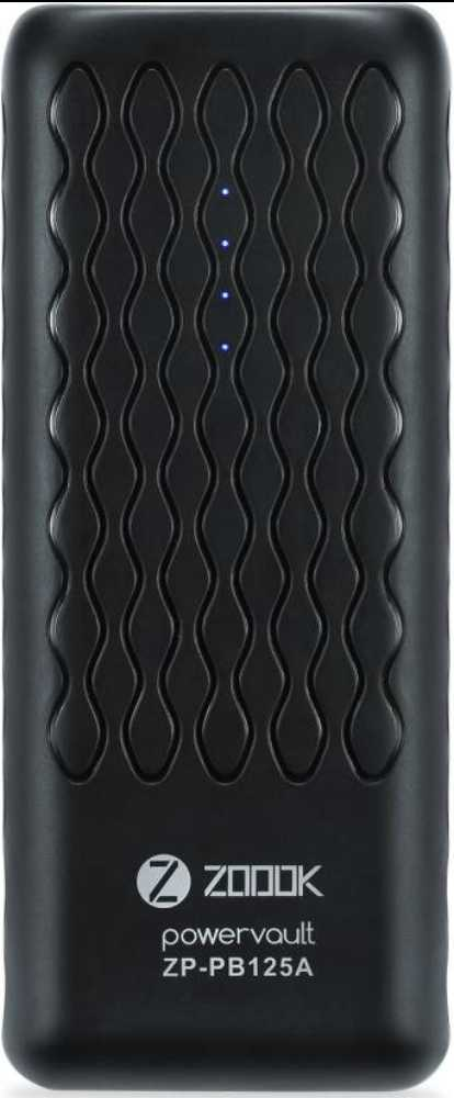 Best price on Zoook ZP-PB125A 12500mAh Power Bank in India