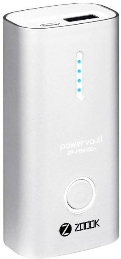 Best price on Zoook ZP-PB-4400P 4400mAh Power Bank in India