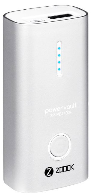 Best price on Zoook ZP-PB4400Plus 4400mAh Power Bank in India