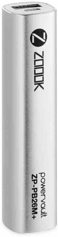 Best price on Zoook ZP-PB26MP 2600mAh Power Bank in India