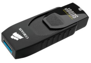 Best price on Corsair Flash Voyager Slider USB 3.0 128GB Pen Drive in India