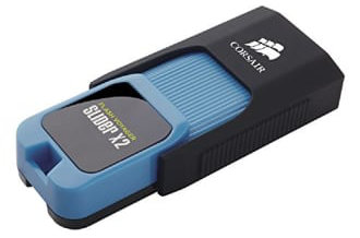 Best price on Corsair Flash Voyager Slider X2 64GB USB 3.0 Pen Drive in India