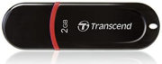 Best price on Transcend JetFlash 300 2GB USB 2.0 Pen Drive - Front in India