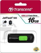Best price on Transcend JetFlash 500 16GB Pen Drive - Top in India