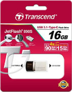 Best price on Transcend JetFlash 890s 16GB OTG Pen Drive - Side in India