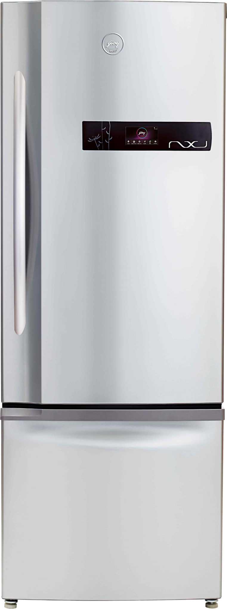 Best price on Godrej RB EON NXW 380 SD 380 Litre Double Door Refrigerator (Inox/Cosmos) in India